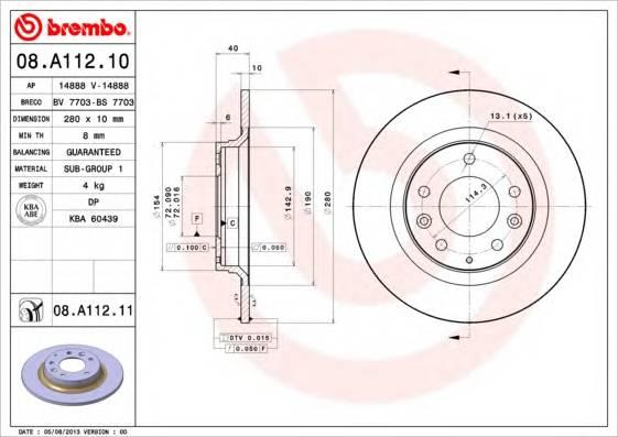 BREMBO 08.A112.10