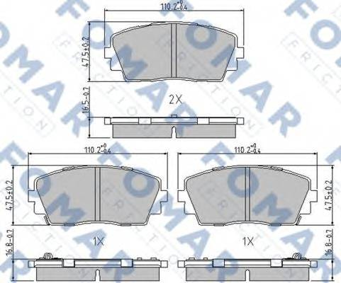FOMAR FRICTION FO244681