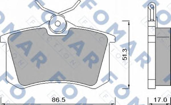 FOMAR FRICTION FO 448181