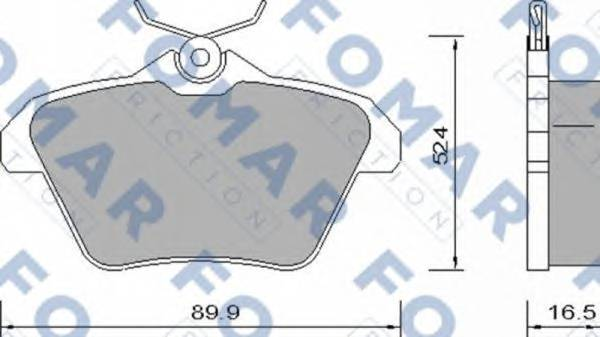 FOMAR FRICTION FO 650081