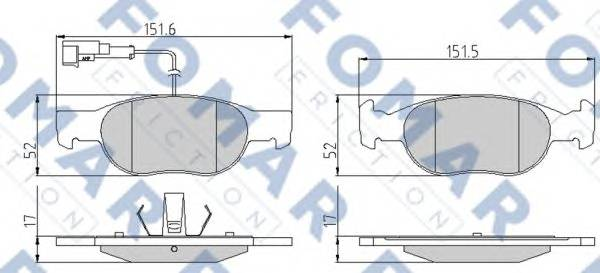 FOMAR FRICTION FO 901581