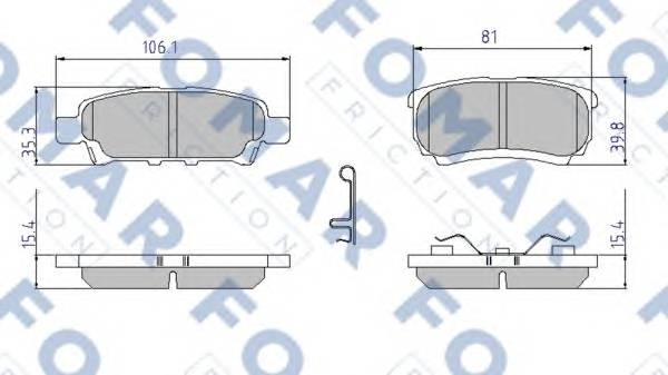 FOMAR FRICTION FO 921781