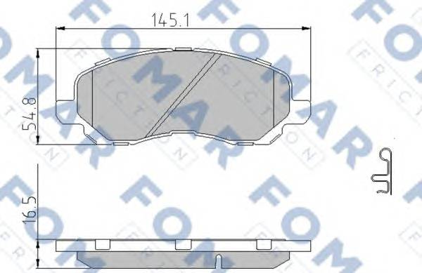 FOMAR FRICTION FO 935881