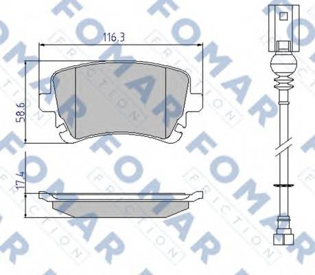 FOMAR FRICTION FO 936681