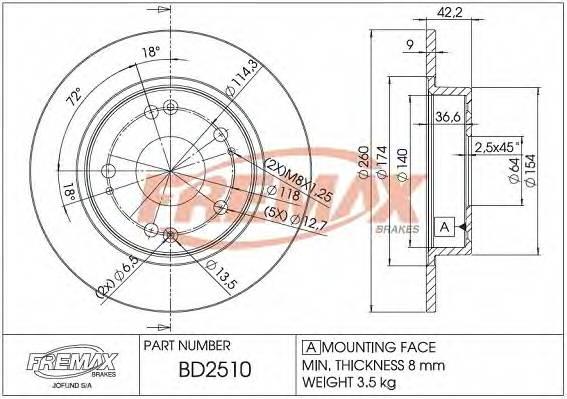 FREMAX BD-2510