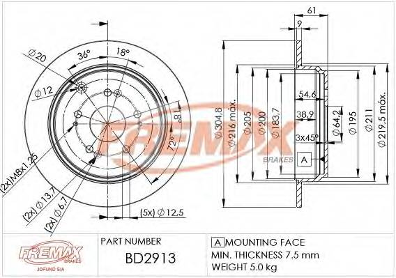 FREMAX BD-2913