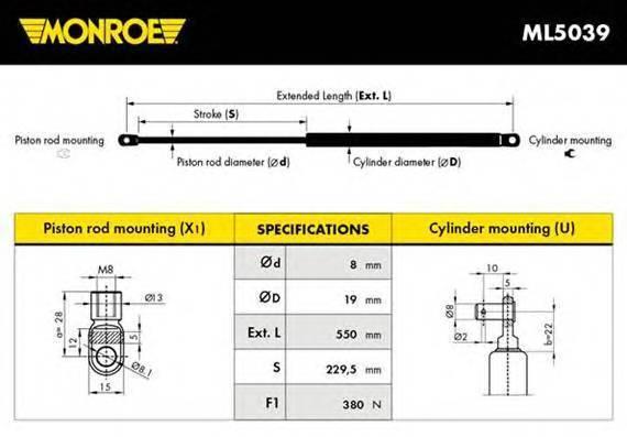 MONROE ML5039