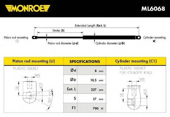 MONROE ML6068